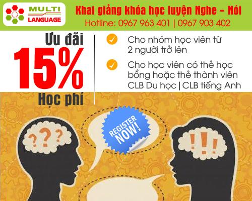 Khai giảng khóa học luyện nghe nói tại Multi Language