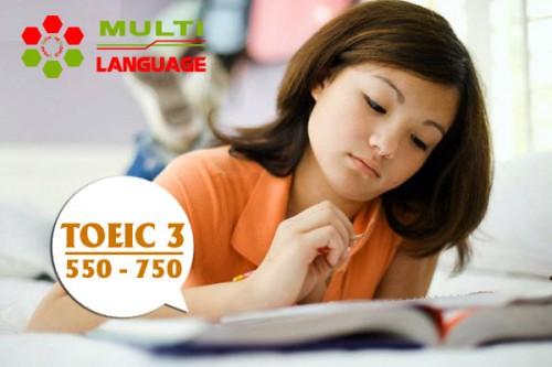 Khoá học TOEIC 3 ( mục tiêu 550 -> 750+ )