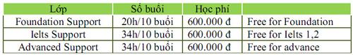 Các khóa học tiếng Anh bổ trợ