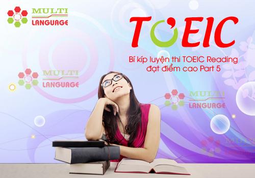Bí kíp luyện thi TOEIC Reading đạt điểm cao Part 5