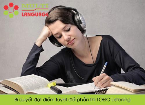 Bí quyết đạt điểm tuyệt đối phần thi TOEIC Listening