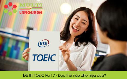 Đề thi TOEIC Part 7 - Đọc thế nào cho hiệu quả?