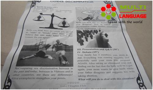 Buổi sinh hoạt CLB Tiếng Anh ngày 8/1/2015