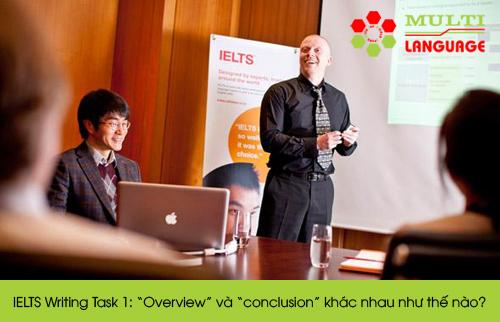 """IELTS Writing Task 1: """"Overview"""" và """"conclusion"""" khác nhau như thế nào?"""