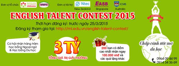 English Talent Contest 2015 chắp cánh ước mơ du học