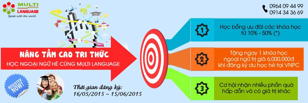 Học ngoại ngữ hè cùng Multi Language - Nâng tầm cao tri thức