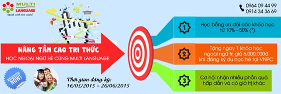 Multi Language trung tâm đào tạo ngoại ngữ chất lượng cao