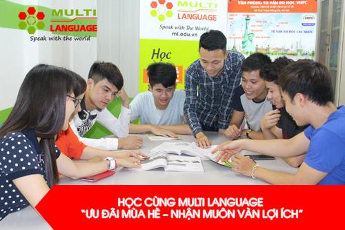 """Học cùng Multi Language """"Ưu đãi mùa hè - Nhận muôn vàn lợi ích"""""""